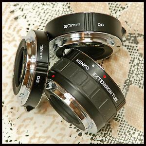 EF-S Fit Kenko DG Canon EOS Digital SLR 3 piece Extension Tube set close up