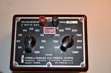 Cornell-Dubilier Electronics Division Cde Decade Resistor Model Rdc Free Shippin