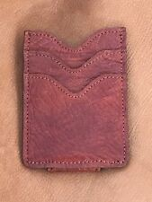 mens leather money clip wallet with magnet
