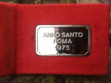 1975 Vatican - Pope Paul VI Jubilee Year Commemorative  Silver Ingot Rare