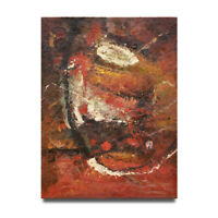 Hungryartist - NY artist - Large modern red original abstract oil painting 36x48
