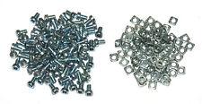 100x Pairs Meccano Part 37a Square Nut Zinc + 37b Allen Bolt Zinc Original