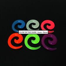 Glow In The Dark Spiral Stretcher Earplug Earring Taper Tunnel Ear plug Expander