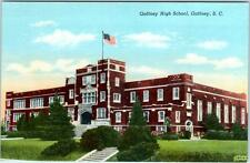GAFFNEY, South Carolina  SC   GAFFNEY HIGH SCHOOL  c1940s Linen Postcard
