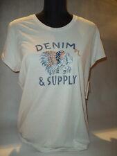 "°° Ralph Lauren Denim & Supply °° t-shirt ""Indian Head té"" talla L crema ~~ nuevo ~~"