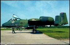 A-10A Warthog postcard Fairchild Republic A-10 Thunderbolt II 12a