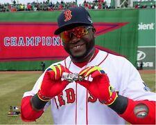 "David Ortiz Boston Red Sox 2013 World Series Ring Photo (Size: 8"" x 10"")"