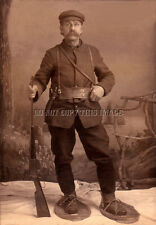 ANTIQUE HUNTING REPRINT 8X10 PHOTOGRAPH WINCHESTER 1895 FLATSIDE RIFLE