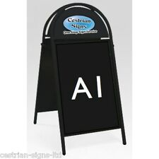Brand New Cestrian Booster Commercial Tubular Magnetic A-frame A-board A1 Black