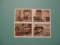 United States Scott  3393 - 3396 Distinguished Soldiers