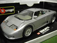 BUGATTI EB110 Coupé gris d 1991 au 1/18 BURAGO 3045 voiture miniature collection