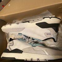 Size 12 Men's Adidas Originals Nite Jogger Shoes White, Grey, Blue, Black *