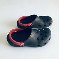 Disney Mickey Mouse Crocs Black Red Womens  8-9 / Mens 6-7