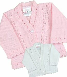 BabyPrem PREMATURE Baby Clothes Cardigan Small Tiny Baby Knitted Cardigans 3-8lb