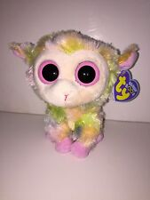 "TY BLOSSOM LAMB 9"" BEANIE BOOS-NEW, MINT TAG, RETIRED, HARD TO FIND,  SUPER SOFT"