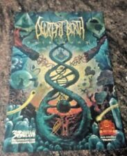 Decrepit Birth AXIS Mundi 11 by 17 Autographed Poster 3 autographs two In gold)