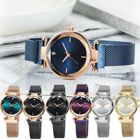 Women Ladies Watch Stainless Steel Mesh Band Quartz Wrist Watches Gift Birthday