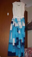 MINT - Gorgeous Vintage 60's MAXI hostess evening DRESS - SZ S 8 10