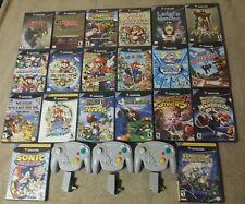 Gamecube Game Lot mario party Zelda mario kart Super Smash bros 3 controllers