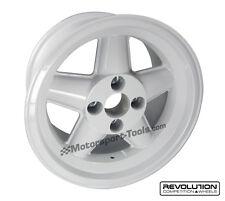 Revolution Rally 8.0x15 5 Spoke Alloy Wheel ET15 White Group4 Escort Rix suspens