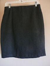 Womens Skirt Grace Sz 8 Rayon Gray Above Knee Back Zipper NWOT