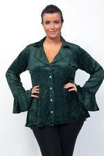 Gothic Velvet Dip Back Ruffle Sleeve Jacket Victoriana Steamppunk PlusSize18-36