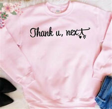 Thank U Next Sweater Tops Sweatshirts Unisex Pullover Casual Blouse Fashion