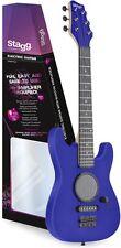 GAMP-200BL E-Gitarre für Kinder Spielbare Kinder-E-Gitarre mit Verstärker