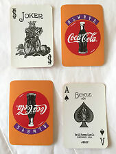 "Vintage Coca-Cola Playing Cards_Full Complete Deck_Miniature Cards - 2"" x 2.5"""