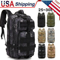 30L Waterproof Outdoors Tactical Backpack Hiking Travel Rucksack Bag Durable USA