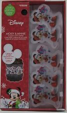 Christmas Disney 10 Mickey & Minnie Mouse Holiday String Lights Battery Operated