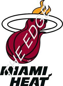 "Miami Heat 4Life  6"" NBA Car Window Or Wall Vinyl Glossy Glove Sticker Decals"