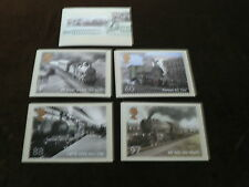 Classic Locomotives of England m/s, 5 PHQ Stamp Cards 2011, FDI Special H/S Back