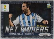 2014 PANINI PRIZM NET FINDERS: GONZALO HIGUAIN #1 ARGENTINA/REAL MADRID/NAPOLI