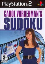Carol Vorderman's Sudoku Sony PlayStation 2 Ps2 3 Puzzle Game