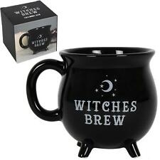 Witches Brew Noir chaudron Mug New Bone China Halloween Coffret Cadeau