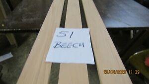 #51 BE 3PCS BEECH RUNNERS 2480X60X10MM   P.A.R.NICETIMBER   MODEL MAKING DIY