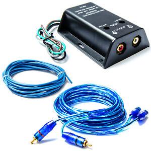 High Low Converter Lautsprecher auf Cinch mit 5m Cinch-Kabel Endstufe Verstärker