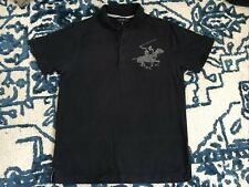Beverly Hills Polo Club Mens Black Polo Shirt Size S