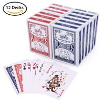 Playing Cards Poker Size Standard Index 12 Decks of Blackjack Euchre Table Game