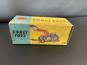 CORGI TOYS 53 MASSEY FERGUSON 65 FARM TRACTOR - EMPTY BOX ONLY