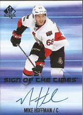 MIKE HOFFMAN 2015-16 SP Authentic Sign of the Times Autograph Ottawa Senators