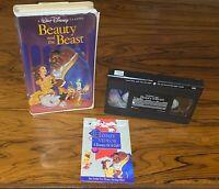 RARE Black Diamond Classic 💎 Walt Disney's Beauty And The Beast - VHS Tape 1992