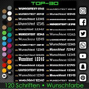 2x Wunschtext Aufkleber 20cm Schriftzug Beschriftung Motorrad Auto Sticker A212