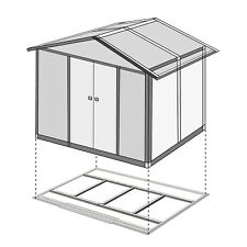 Outdoor Tool Shed Floor Foundation Frame for Garden Storage Shed Kit Metal 2Size