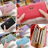 Women Clutch Leather Wallet Long Card Holder Phone Bag Case Purse lady Handbags