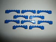 LEGO CITY  10 x Brückenstein (innerer Bogen) 92950  blau / bright blue 1x6x1 NEU