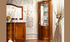 LUXE eck-vitrinetorriani JOUR noyer placage classique Meuble d'Italie