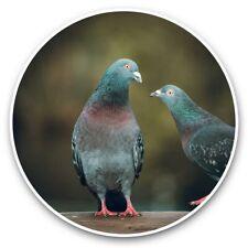 2 x Vinyl Stickers 25cm - Cute Pigeon Bird Love Wildlife  #44798
