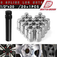 Buyer Needs to Review The spec 20pcs 1.87 Chrome 1//2-20 UNF Wheel Lug Nuts fit 2003 Ford Ranger May Fit OEM Rims